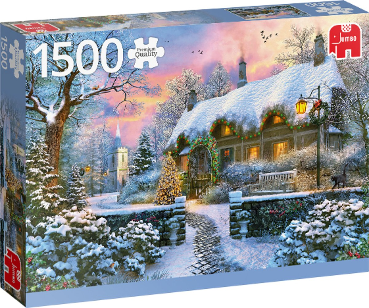 PC Whitesmiths Cottage in Winter 1500 pcs