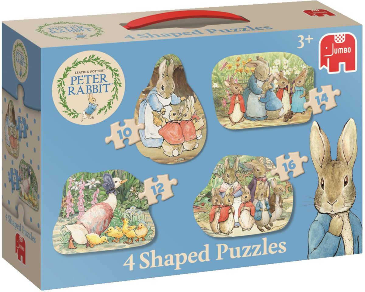 Peter Rabbit 4in1 Vormenpuzzel
