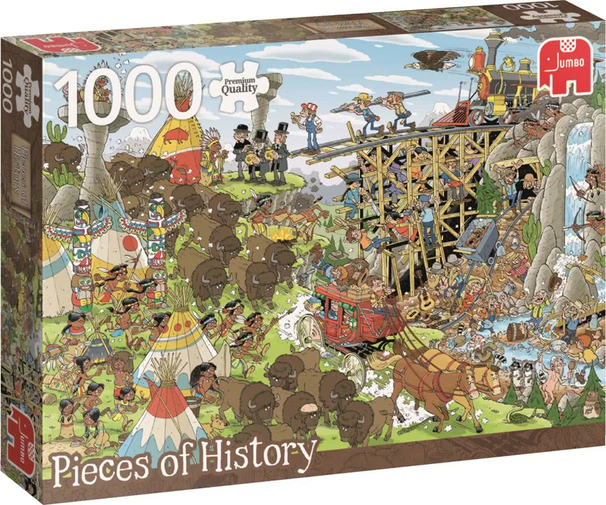 Pieces of History Wild West Puzzel 1000 stukjes