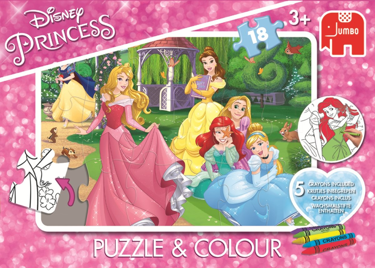 Princess Puzzle &Colour Medium