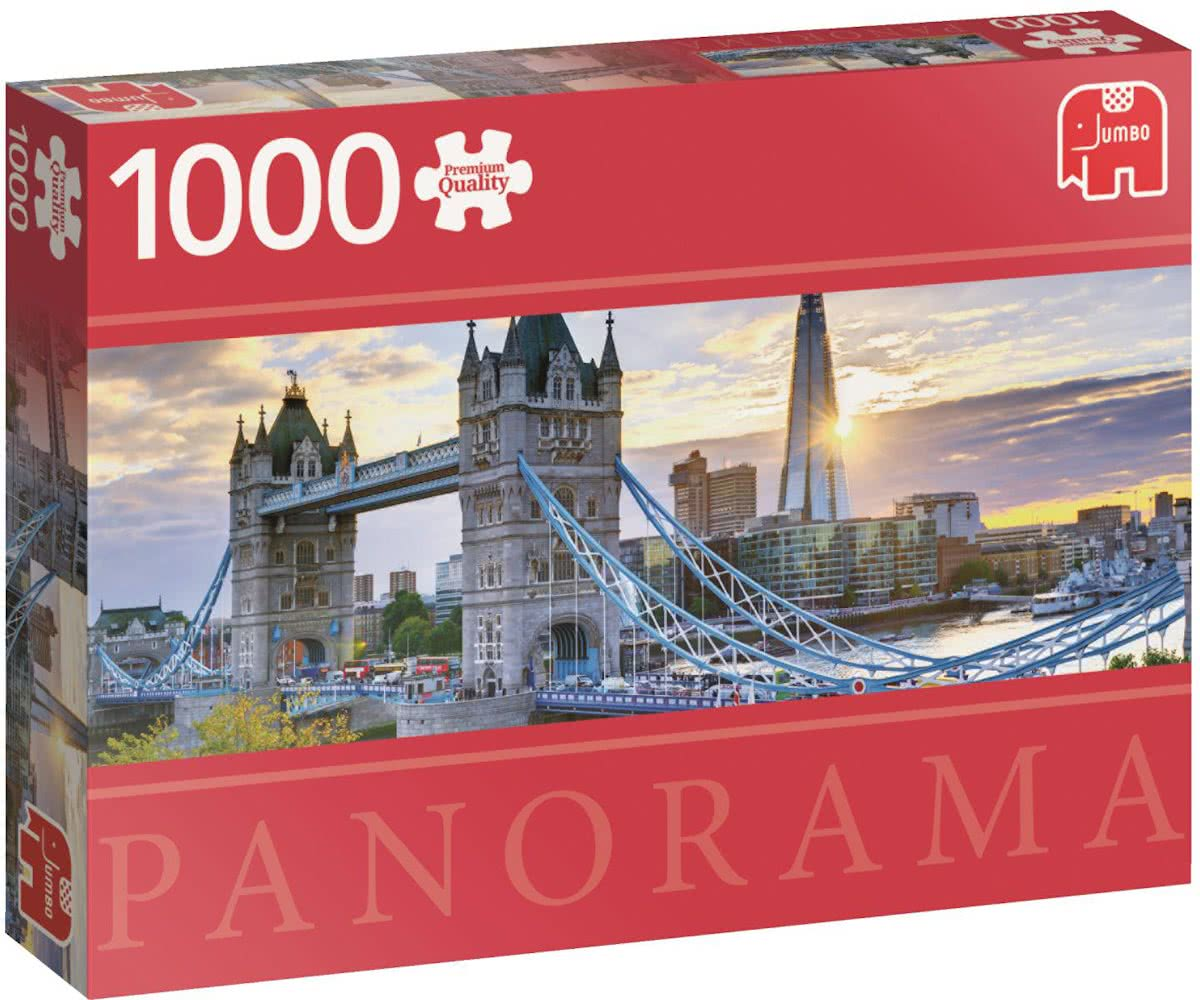 Tower Bridge London Premium Quality panorama - Puzzel 1000 stukjes