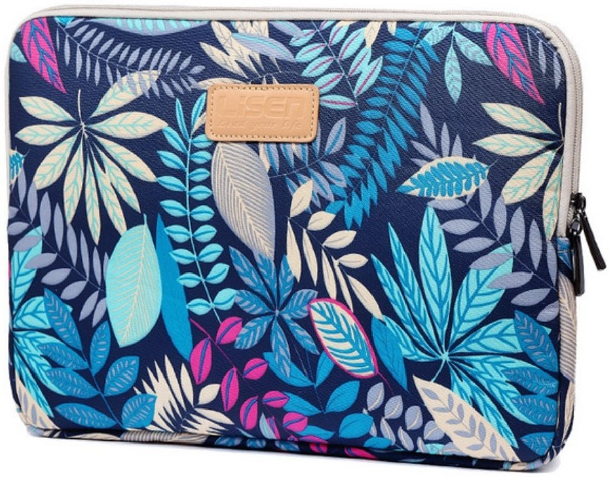 Tech-Protect Blossom MacBook Air/Pro 13 inch Hoes / Sleeve - Blauw