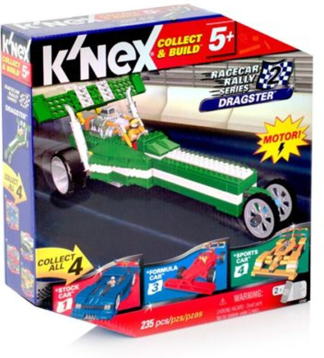 KNEX - Collect & Build - Nr.2 - Racecar rally series - Dragster - INCL. MOTOR