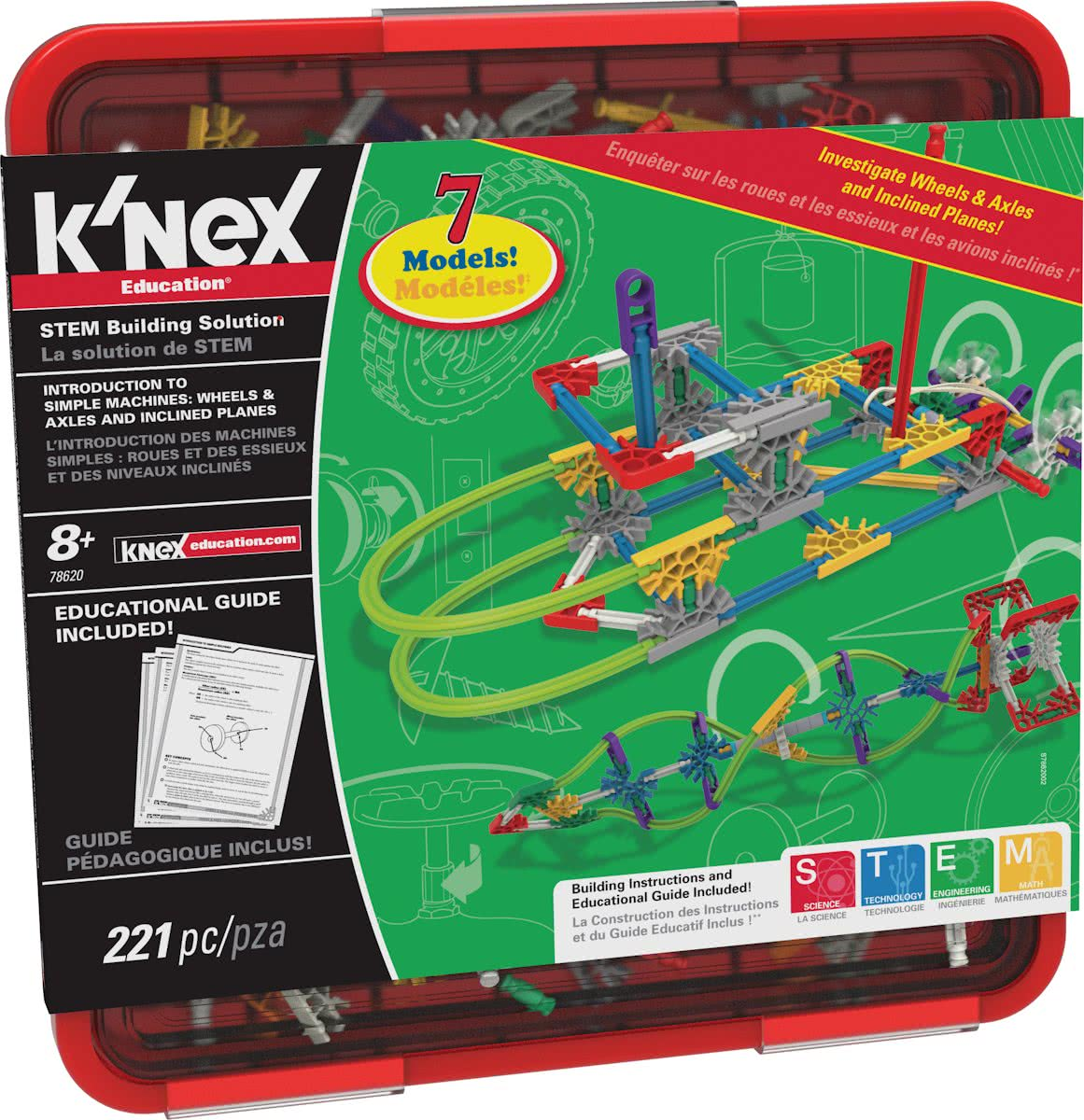 KNEX Education Intro to Simple Machines: Wheels, Axles & Inclined Planes - Bouwset