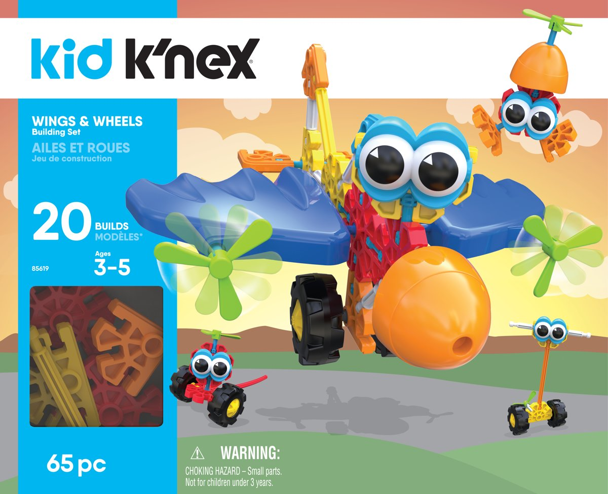 Kid Knex - Wings & Wheels Building Set