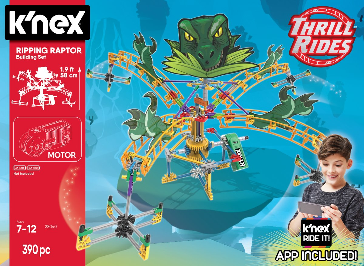 Knex Thrill Rides - Ripping Raptor Roller Coaster - KNected