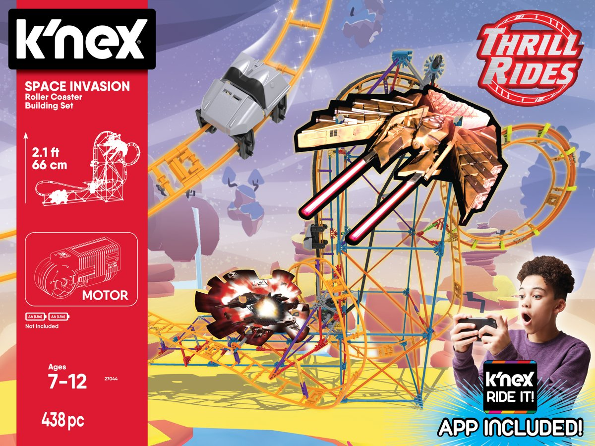 Knex Thrill Rides - Space Invasion Roller Coaster - Ride it App