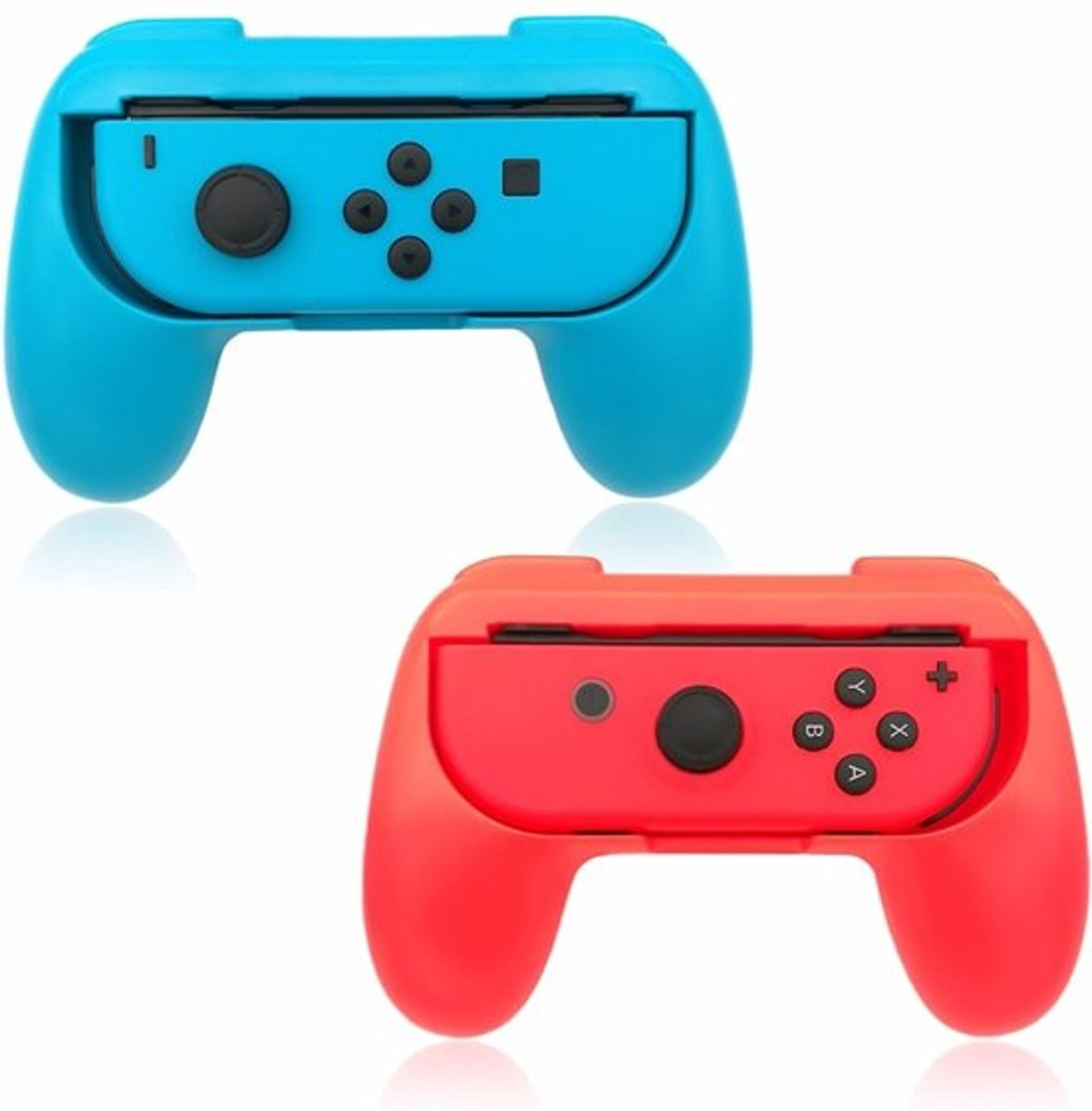 Joy-Con Grip Kit Set Hand Grips voor Nintendo Switch -   - Rood / Blauw