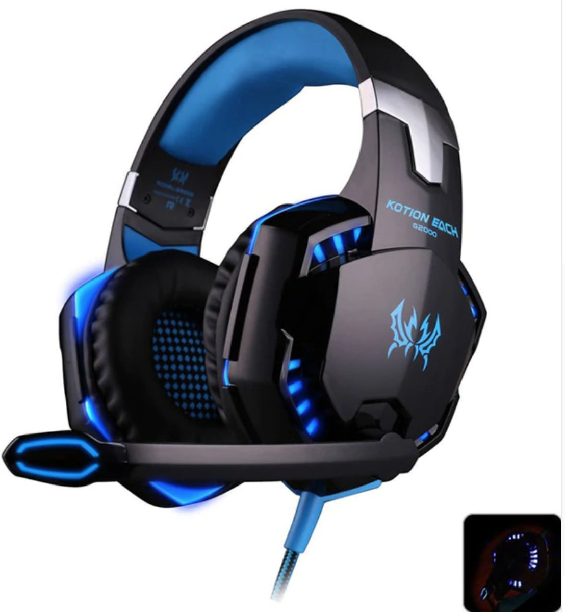 Gaming Headset- Headphone PC/ Playstation/ Xbox- Hoge kwaliteit gaming- LED verlichting