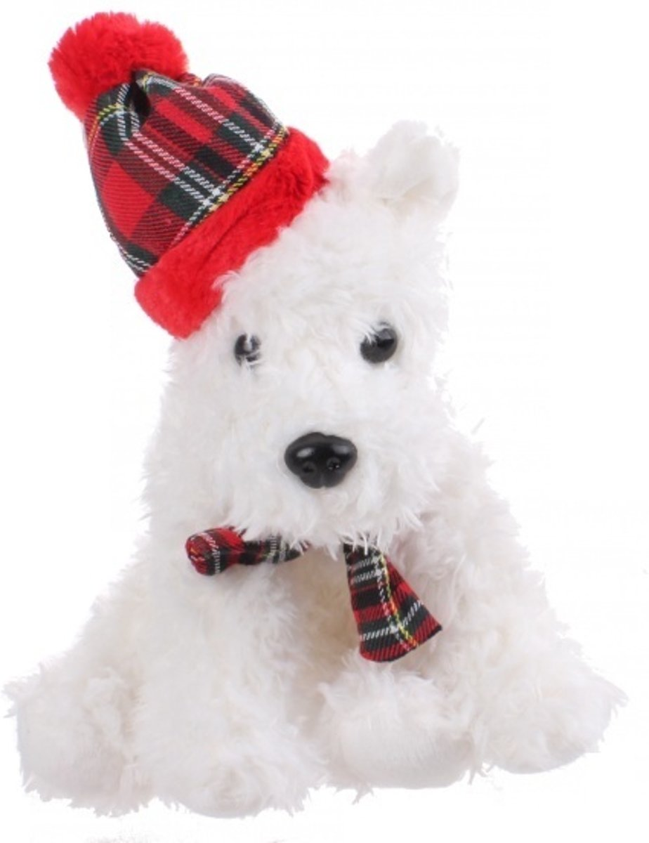 Knuffelhond West Highland White Terriër Wit 23 Cm