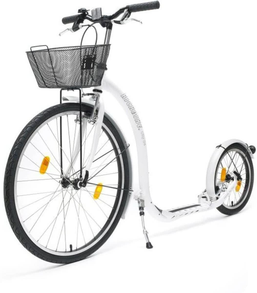 Kickbike step City G4 met mandje (wit)