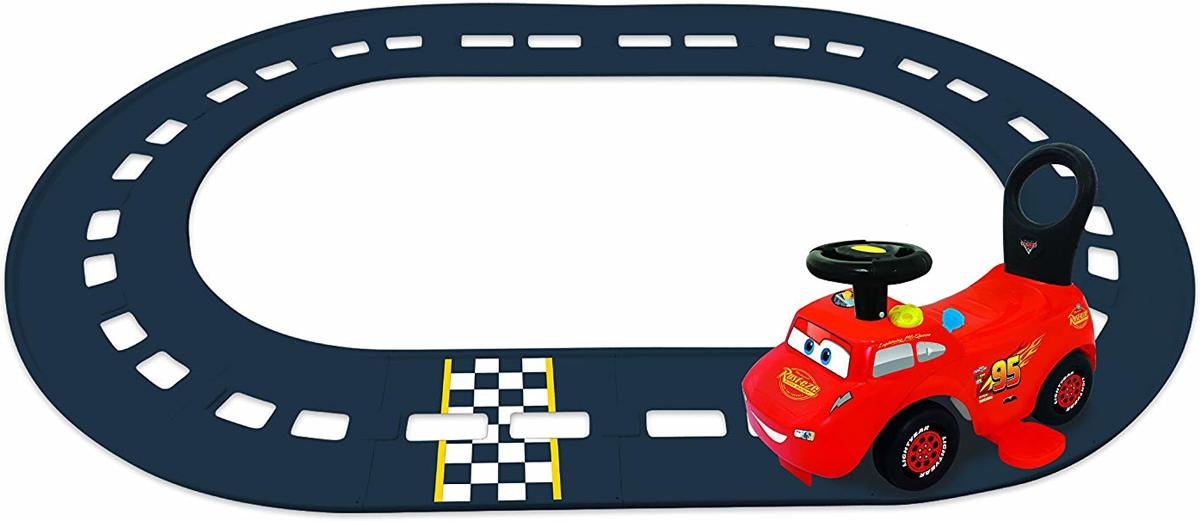 Disney Cars Lightning McQueen 3-in-1 Go-Go-Racer Ride-On with Track