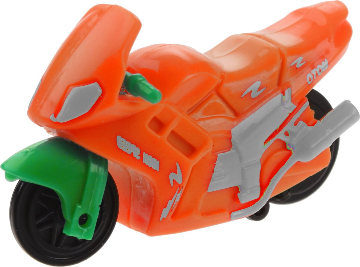 Kids Fun Motor Pull Back Oranje 4,5 Cm