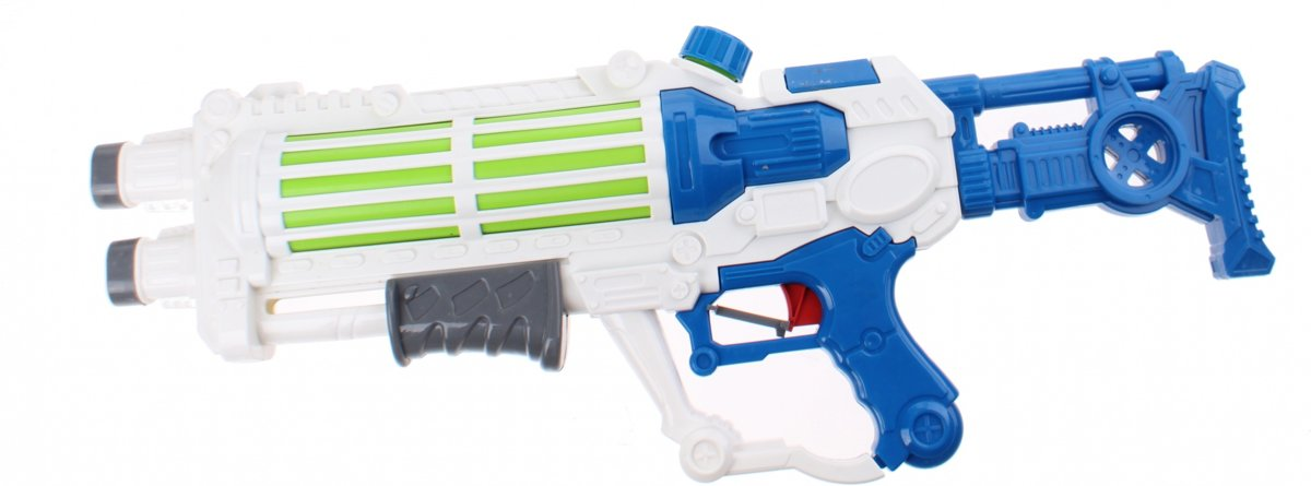 Kids Fun Waterpistool Space 58 Cm Wit/blauw