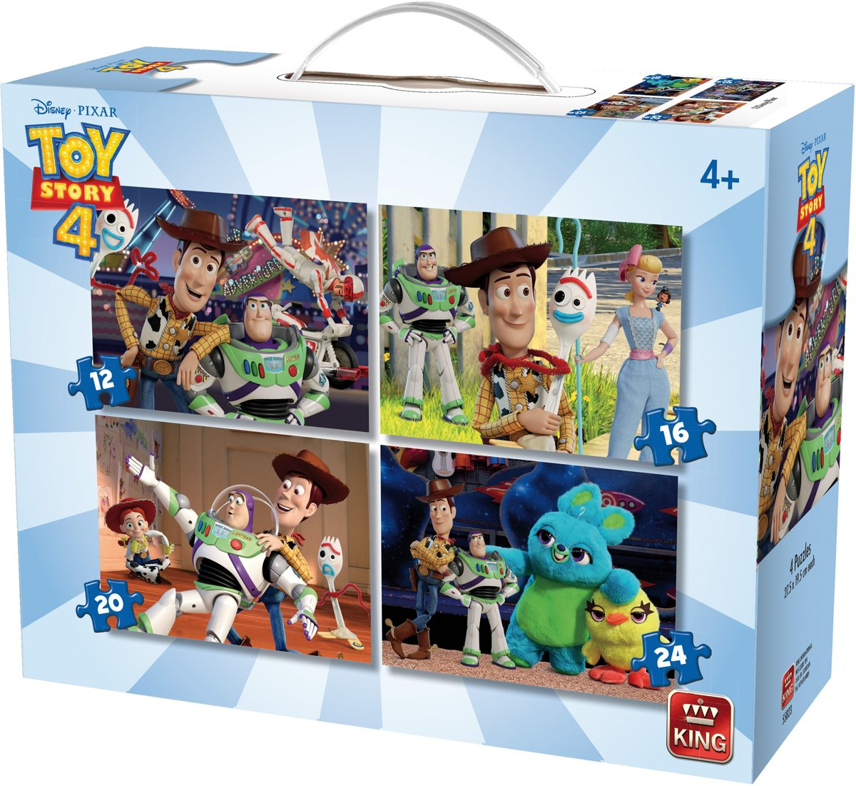4 in 1 Puzzel TOY STORY 4