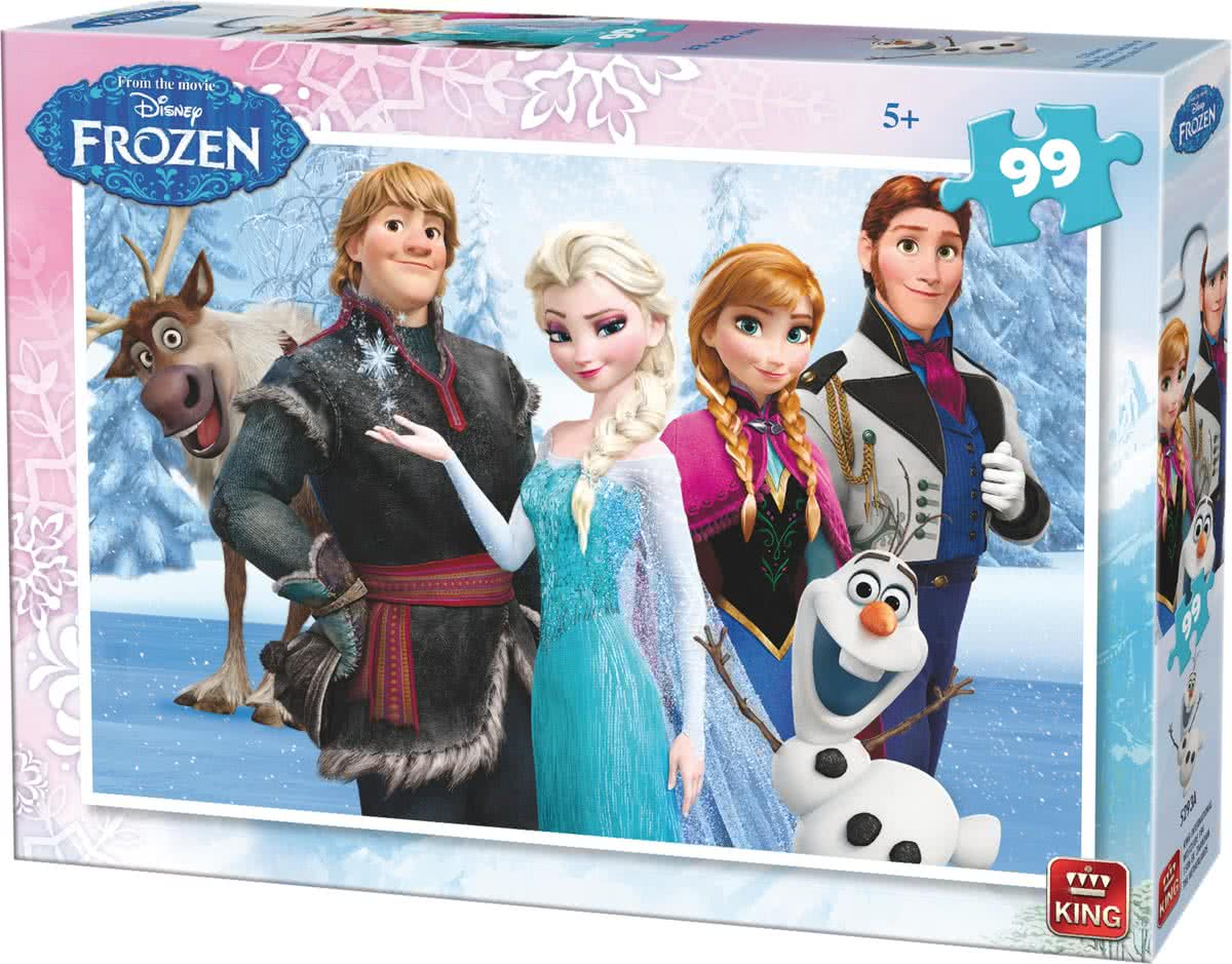 King Disney 2 Puzzles Frozen 99 stukjes