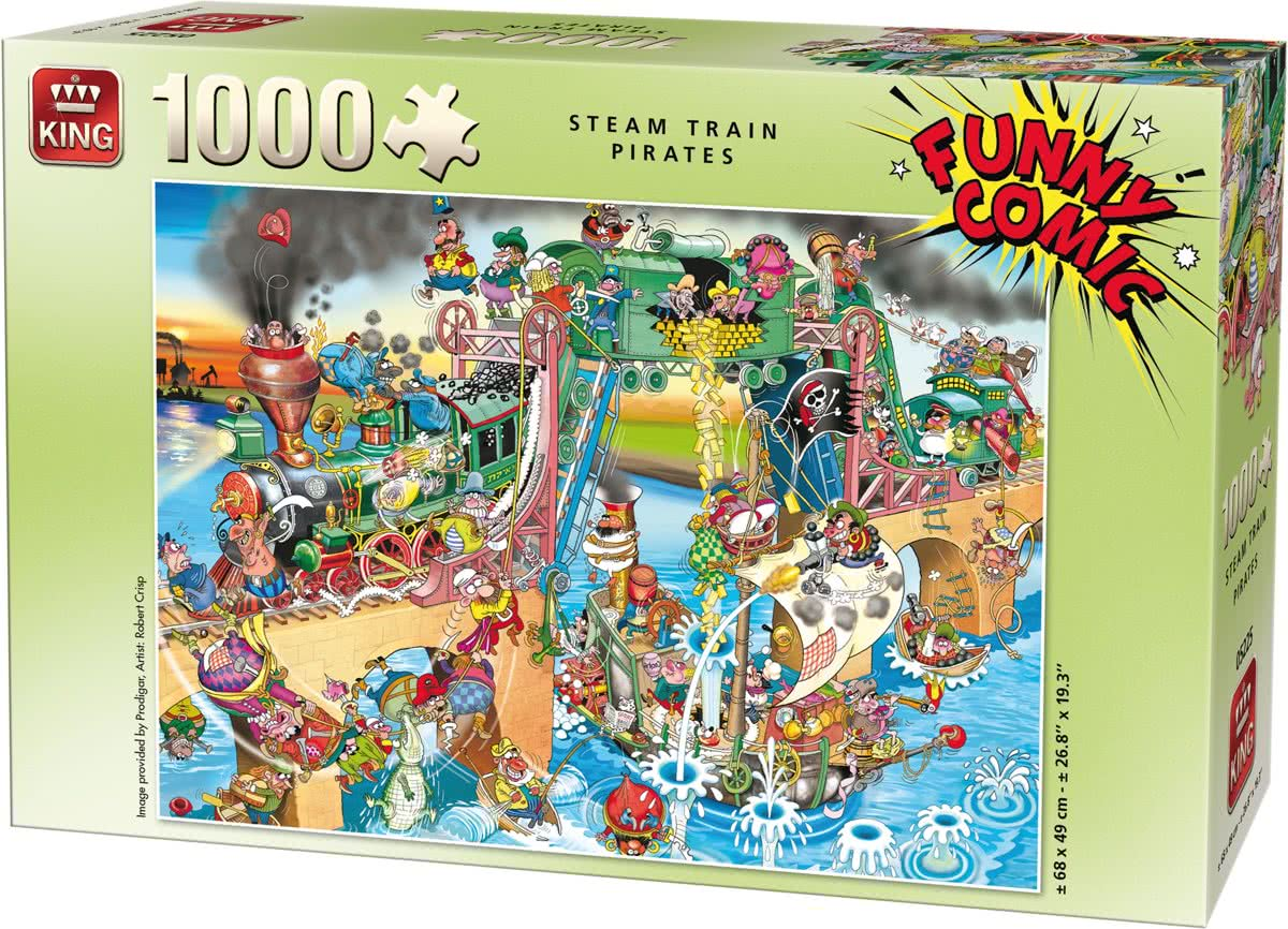 King Funny Comic Steam Train Pirates 1000 stukjes
