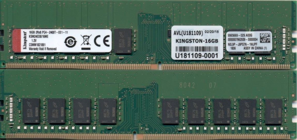 Technology KSM24ED8/16ME 16GB DDR4 2400MHz ECC geheugenmodule