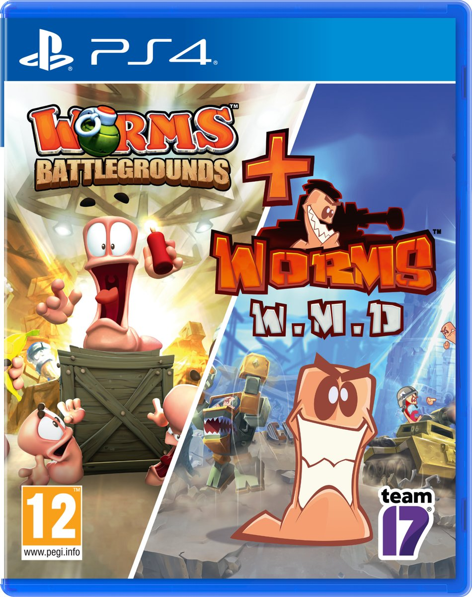 WORMS Double Pack - Worms Battlegrounds & Worms W.M.D - PS4