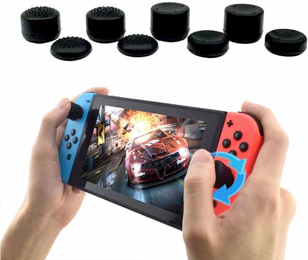 8 in 1 Joy-Con Thumb Stick Grip Caps voor Nintendo Switch