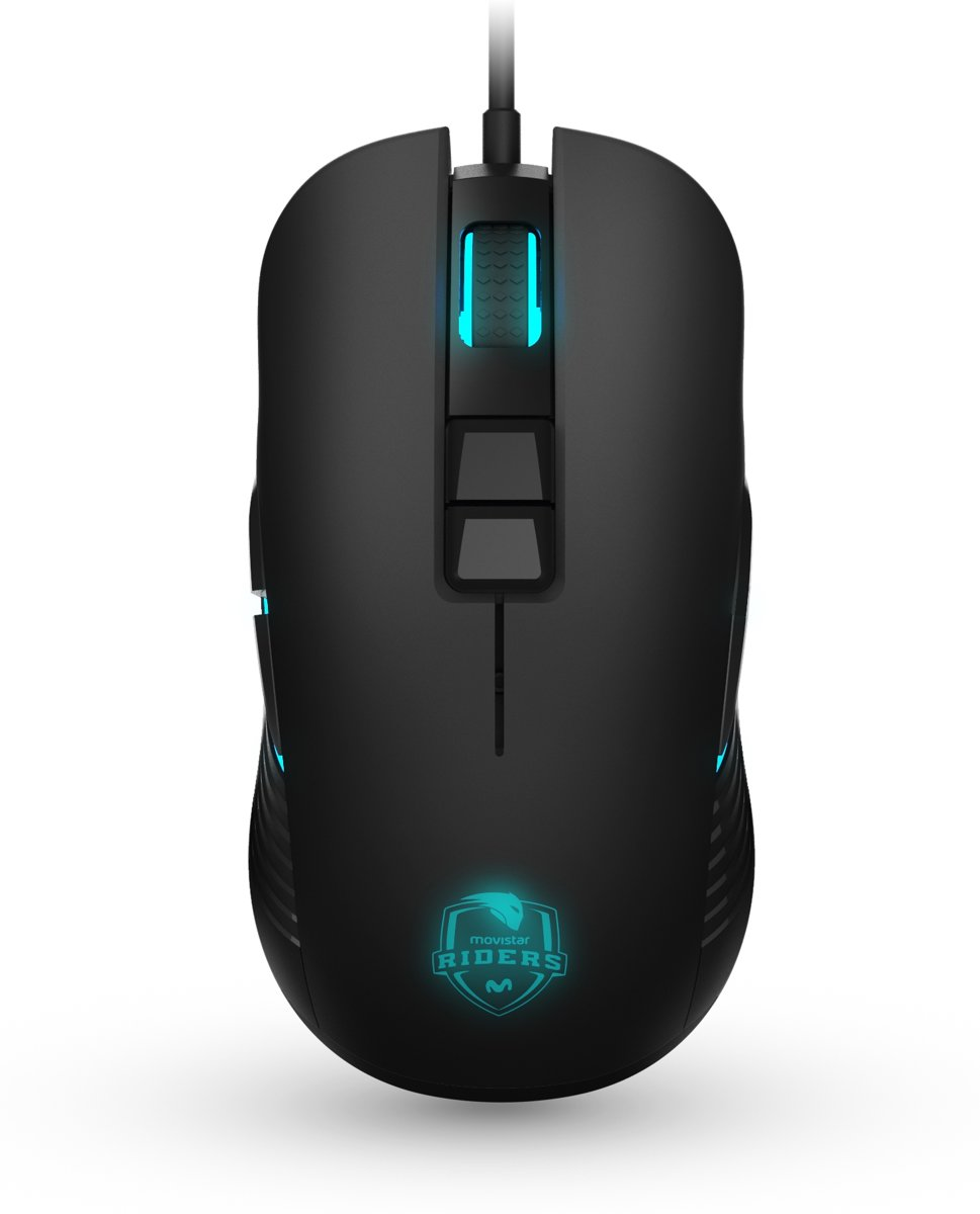 Movistar Riders Mouse muis USB Optisch 7200 DPI Zwart