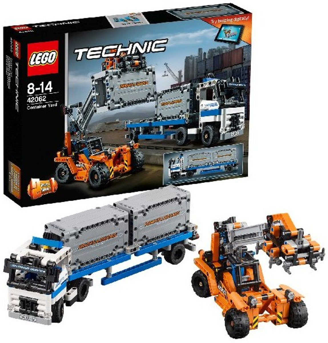 42062 Lego Technic Containertransport - incl. containers