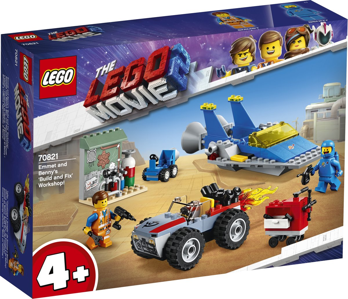 LEGO 4+ The Movie 2 Emmets en Bennys Bouw- en Reparatiewerkplaats! - 70821