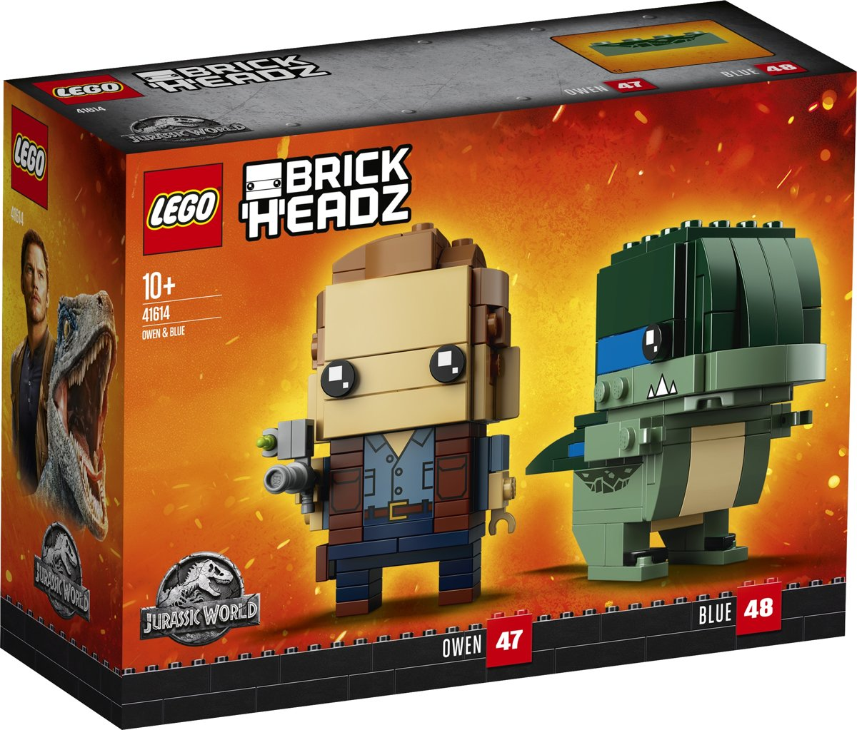 LEGO BrickHeadz Jurassic World Owen en Blue - 41614