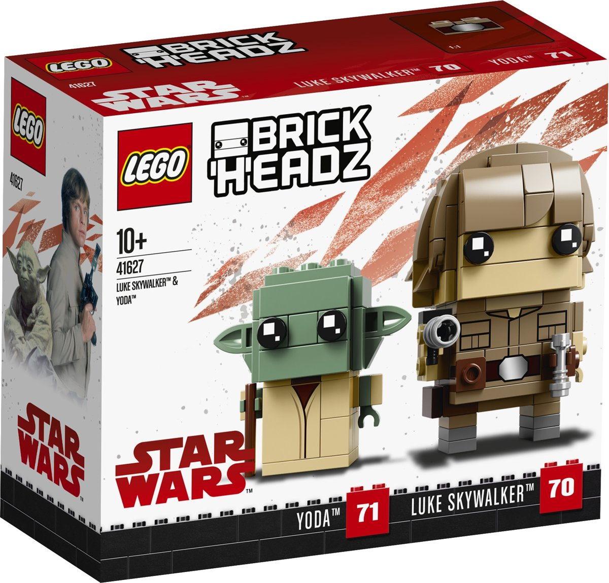 LEGO BrickHeadz Luke Skywalker & Yoda - 41627