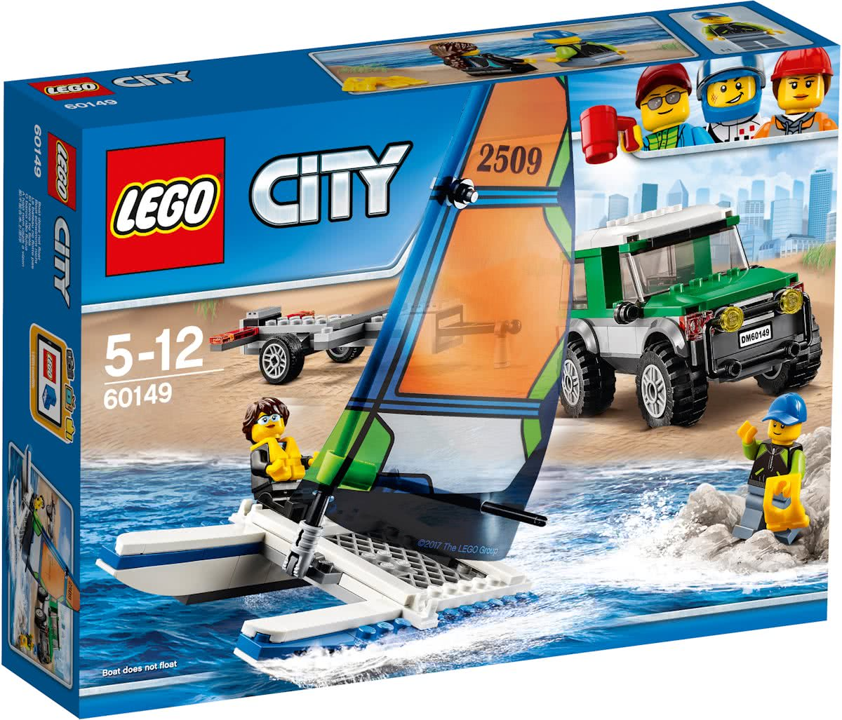 LEGO City 4x4 met Catamaran - 60149