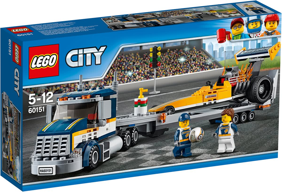 LEGO City Dragster Transportvoertuig - 60151