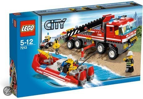 LEGO City Off-road brandweerwagen en brandweerboot - 7213