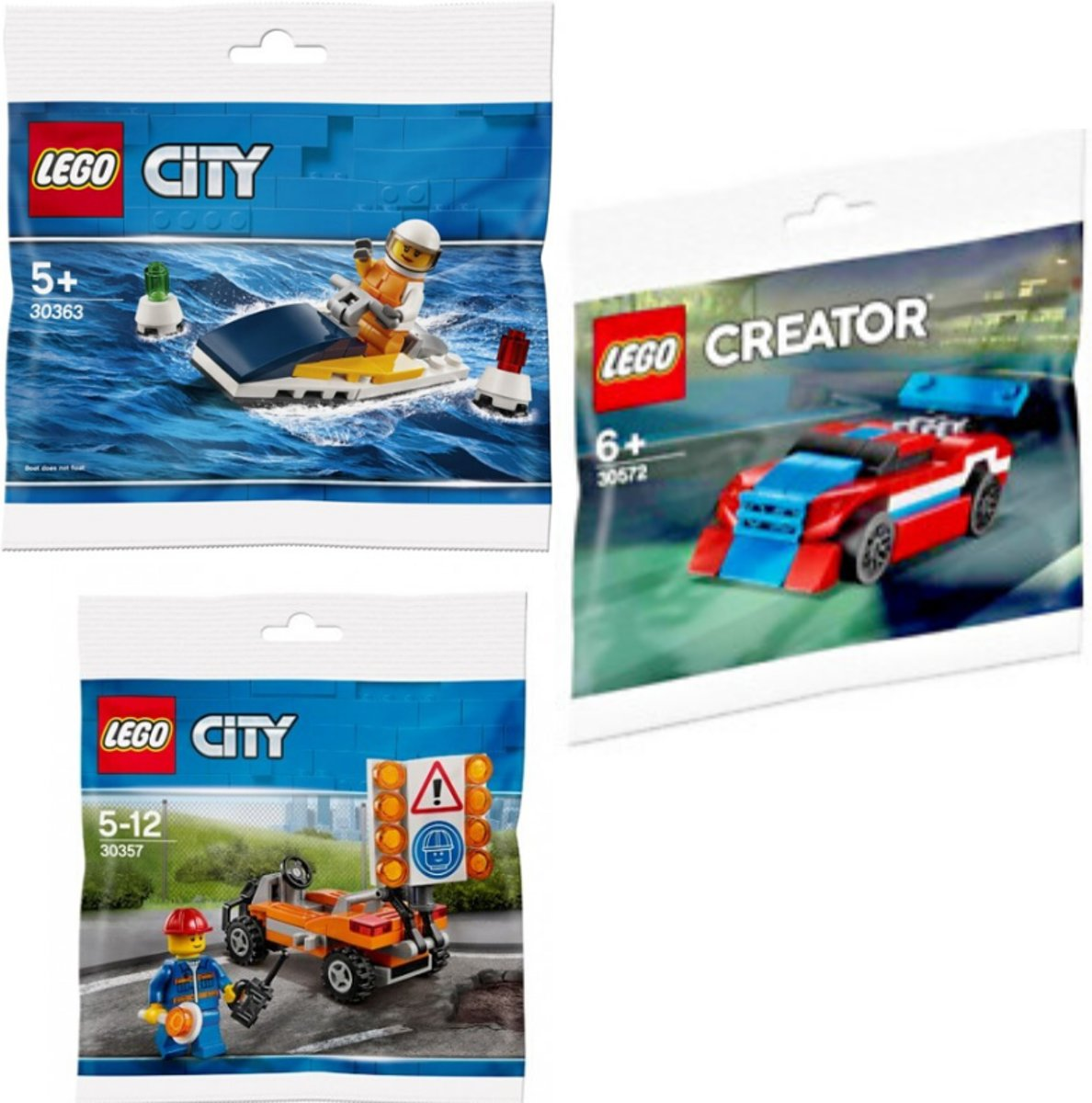 LEGO City bundel - 30357 + 30363 + 30572 (polybags)