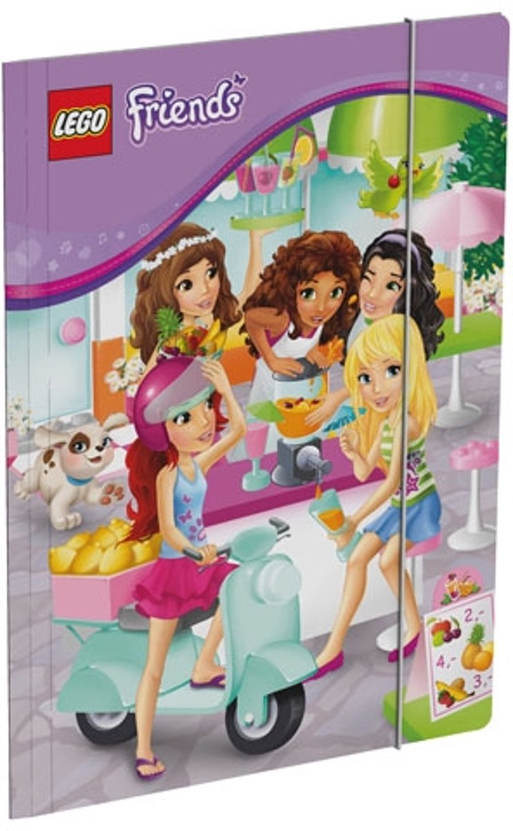 LEGO FRIENDS Juice Bar Elastomap folio