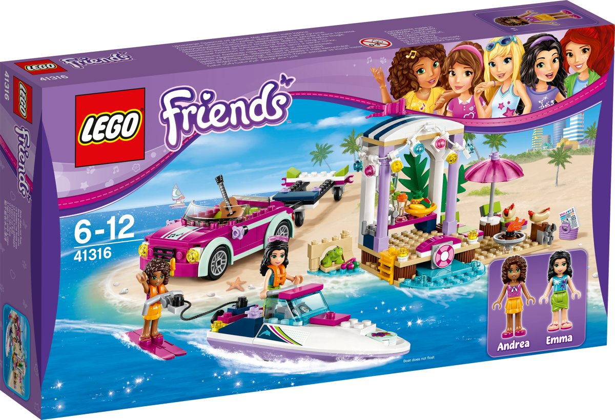 LEGO Friends Andreas Speedboottransport - 41316