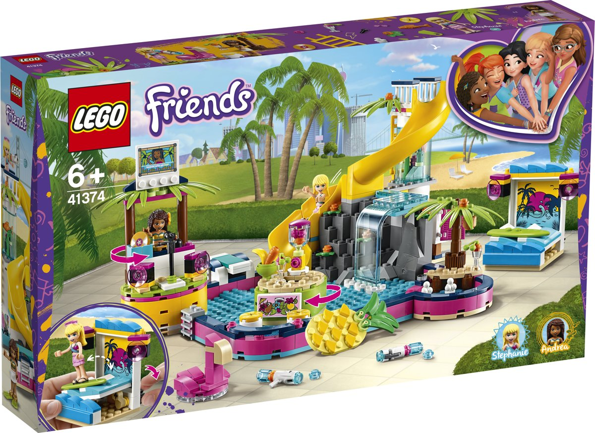LEGO Friends Andreas Zwembadfeest - 41374