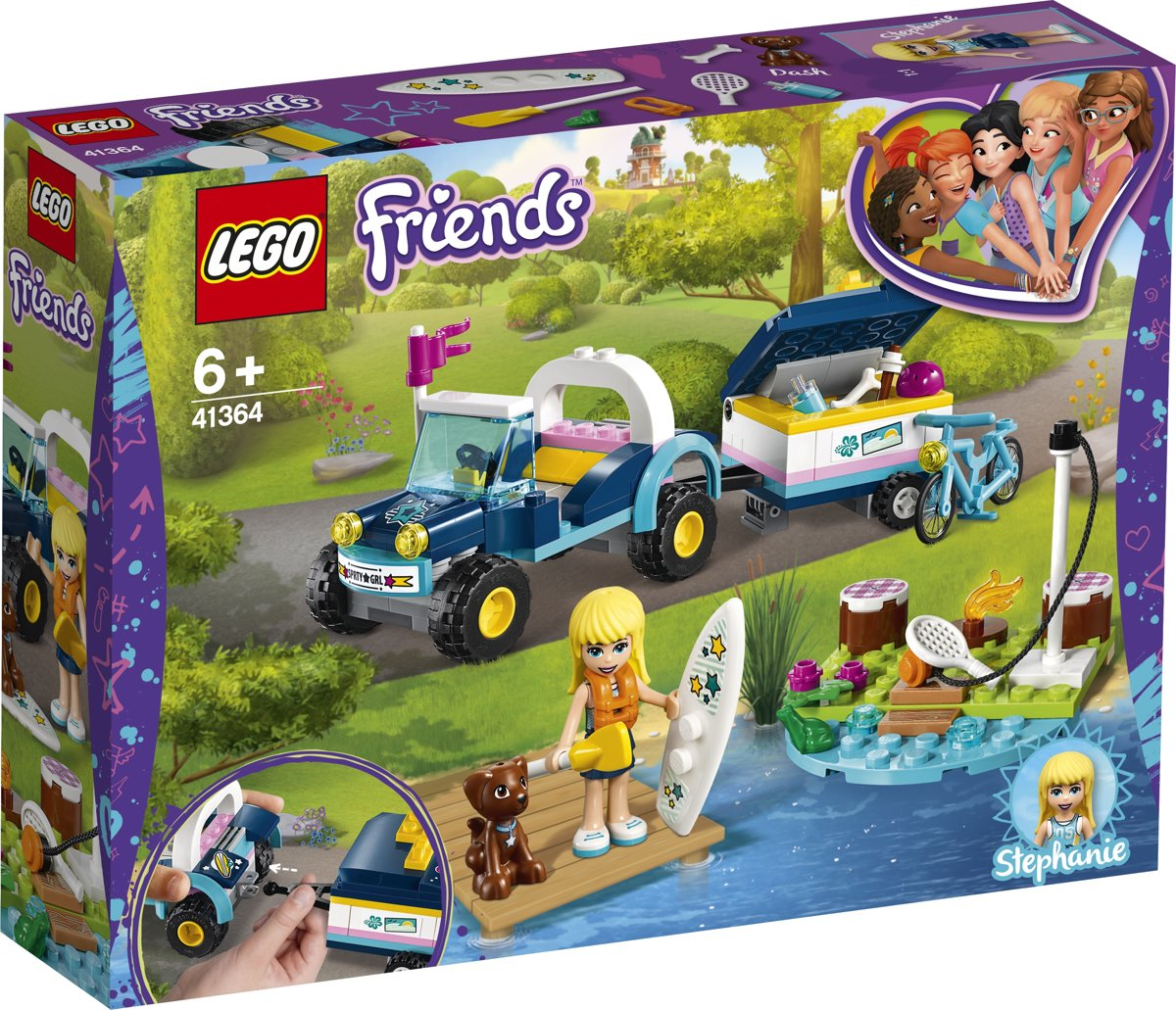 LEGO Friends Stephanies Buggy en Aanhanger - 41364