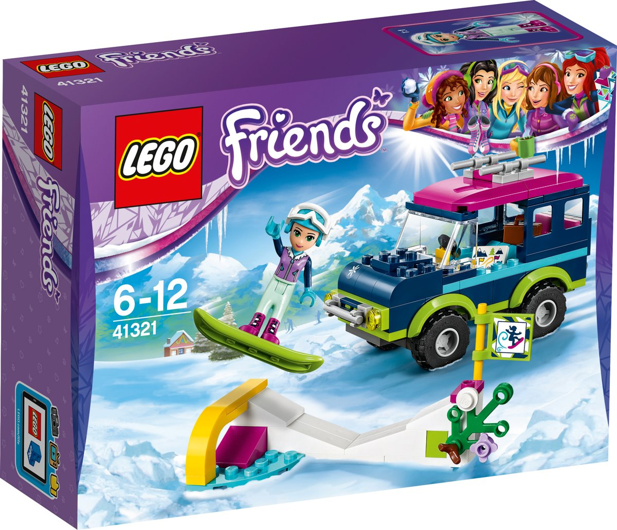 LEGO Friends Wintersport Terreinwagen - 41321