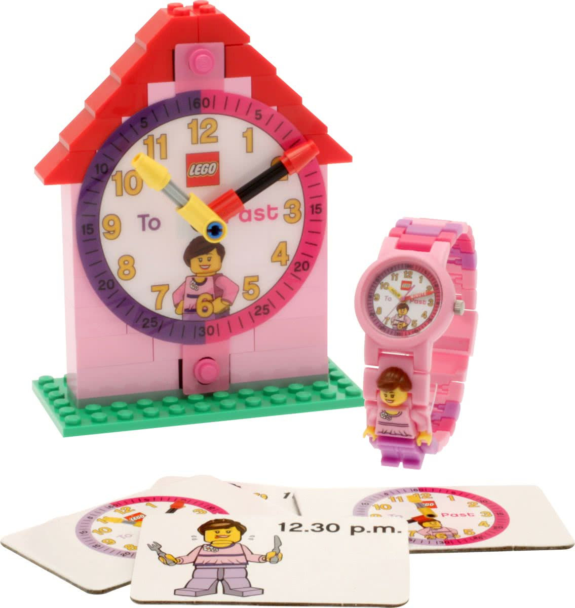 LEGO GIRL TIME TEACHER WATCH W MINIFIGUR
