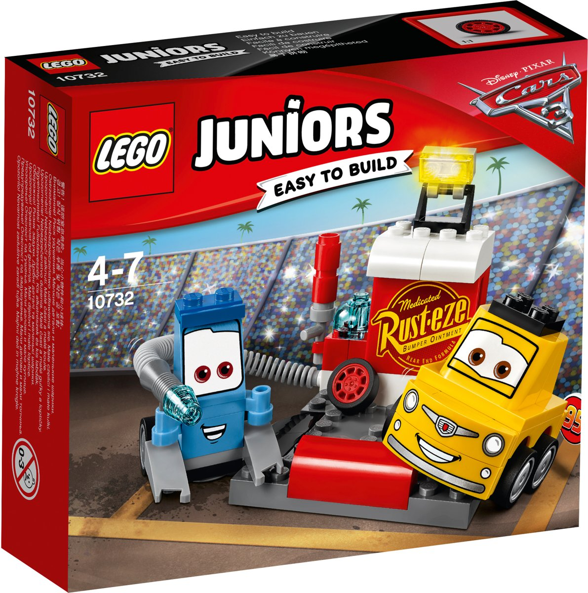LEGO Juniors Cars 3 Guido en Luigis Pitstop - 10732