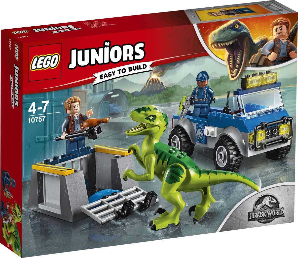 LEGO Juniors Jurassic World Raptor Reddingsauto - 10757