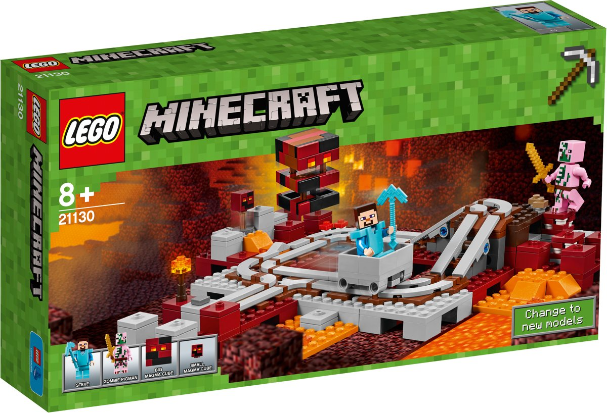 LEGO Minecraft De Nether Spoorweg - 21130