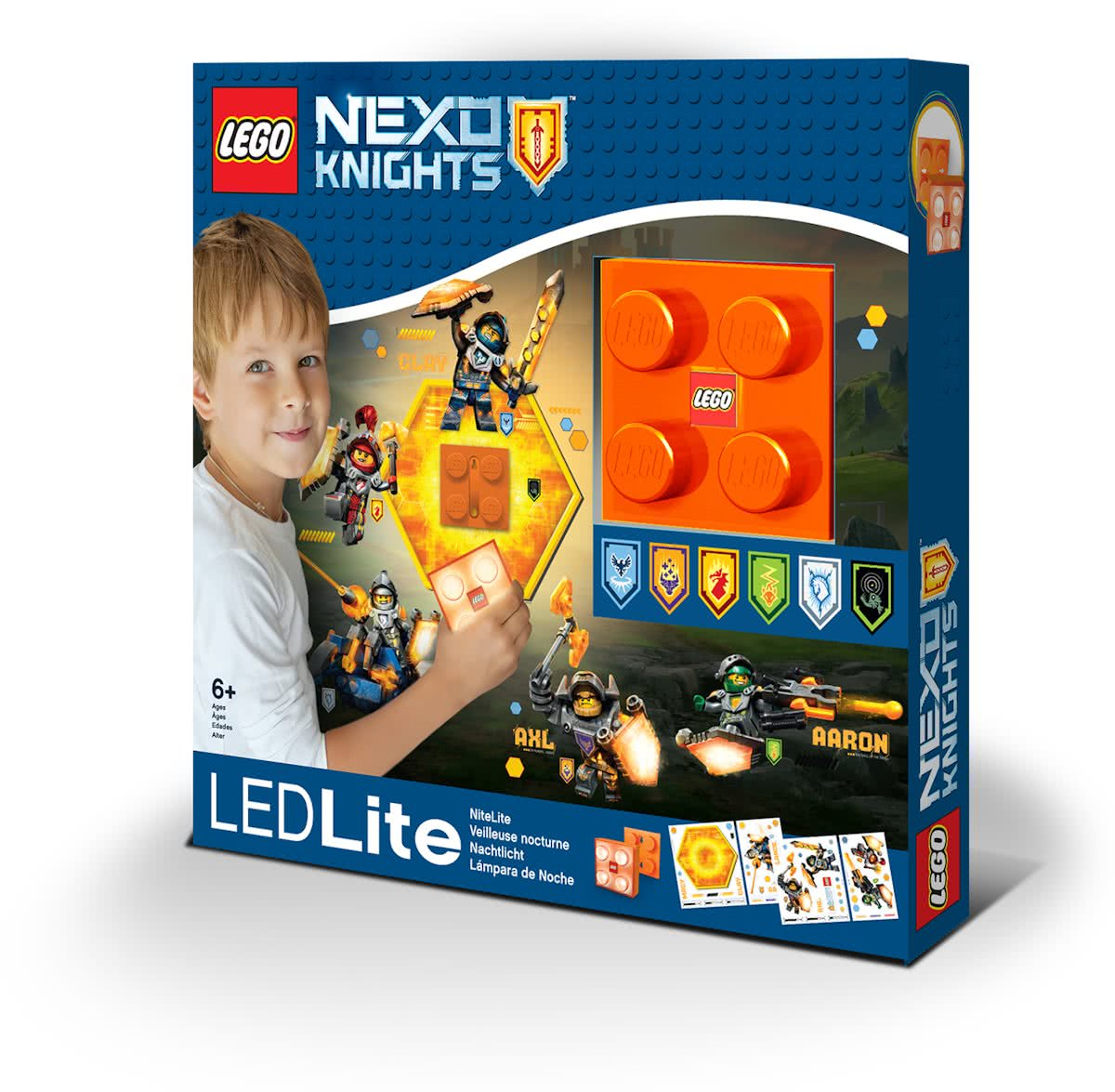 LEGO NI7 Nexo Knight LED Wandlamp