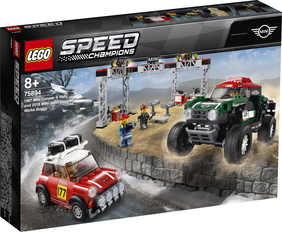 LEGO Speed Champions 1967 Mini Cooper S Rally en 2018 MINI John Cooper Works Buggy - 75894