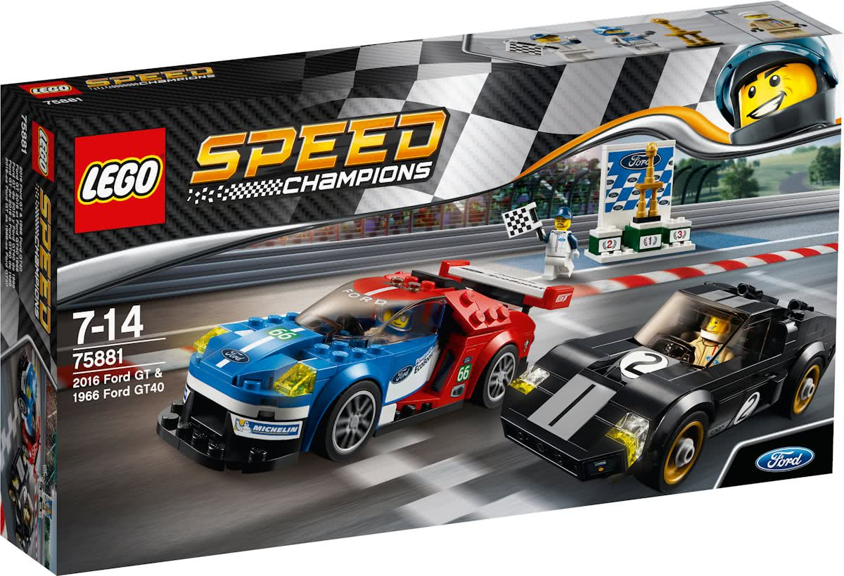 LEGO Speed Champions 2016 Ford GT & 1966 Ford GT40 - 75881