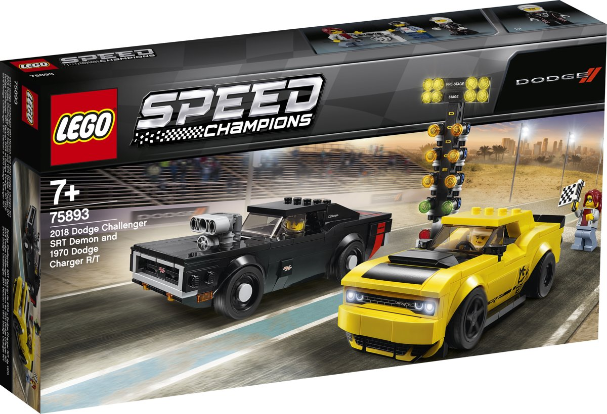 LEGO Speed Champions 2018 Dodge Challenger SRT Demon en 1970 Dodge Charger R/T - 75893