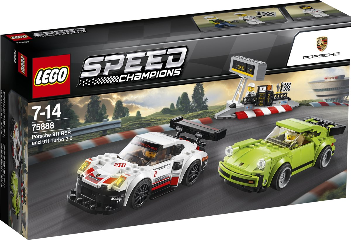 LEGO Speed Champions Porsche 911 RSR en 911 Turbo 3.0 - 75888