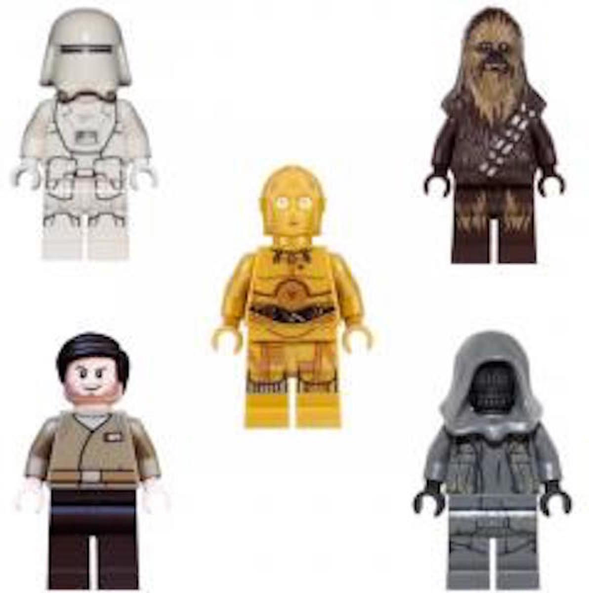 LEGO Star Wars Bundel 002: Chewbacca, C-3PO, First order snowtrooper, Resistance officer, Unkars thug
