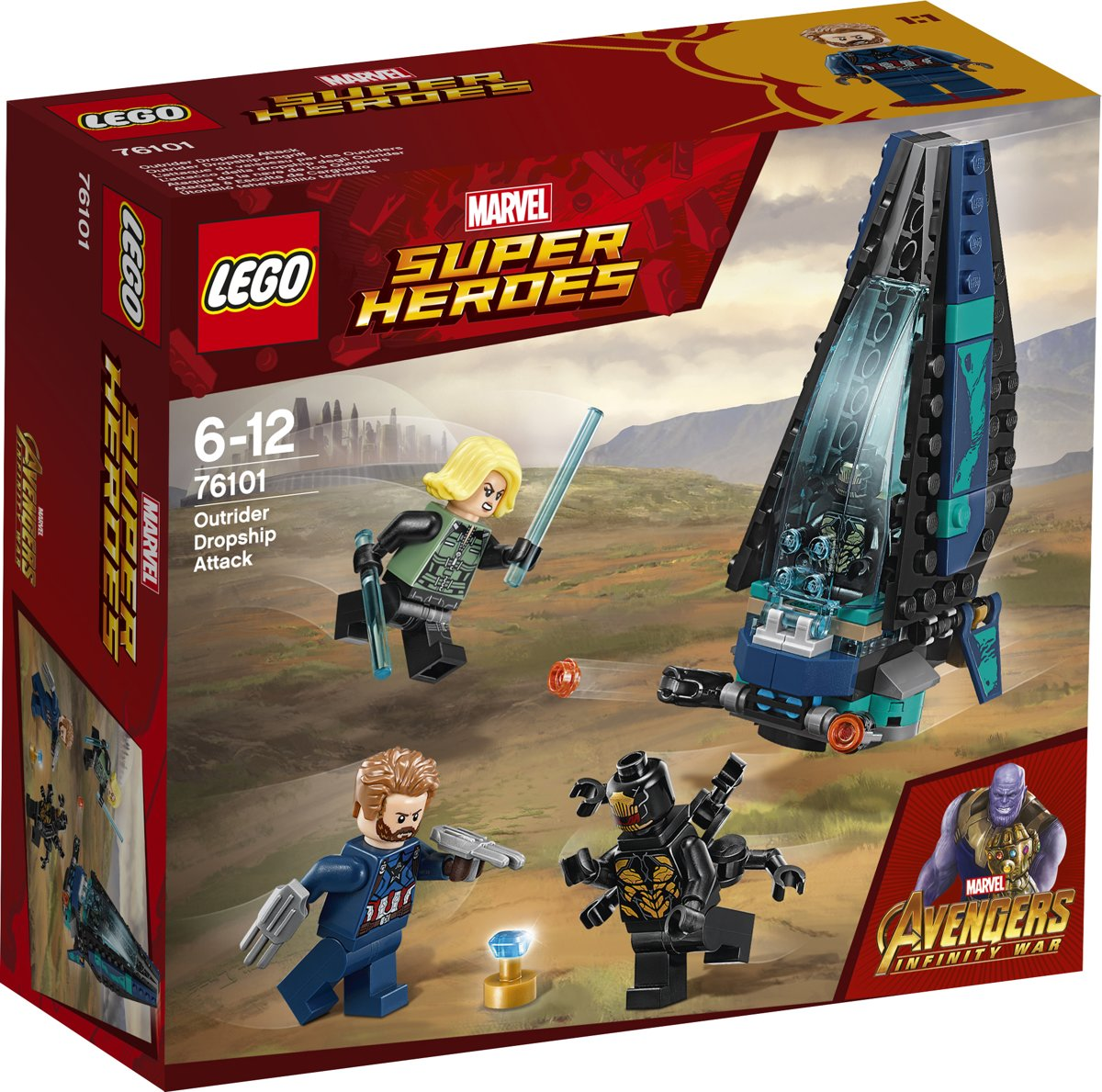 LEGO Super Heroes Outriderdropshipaanval - 76101
