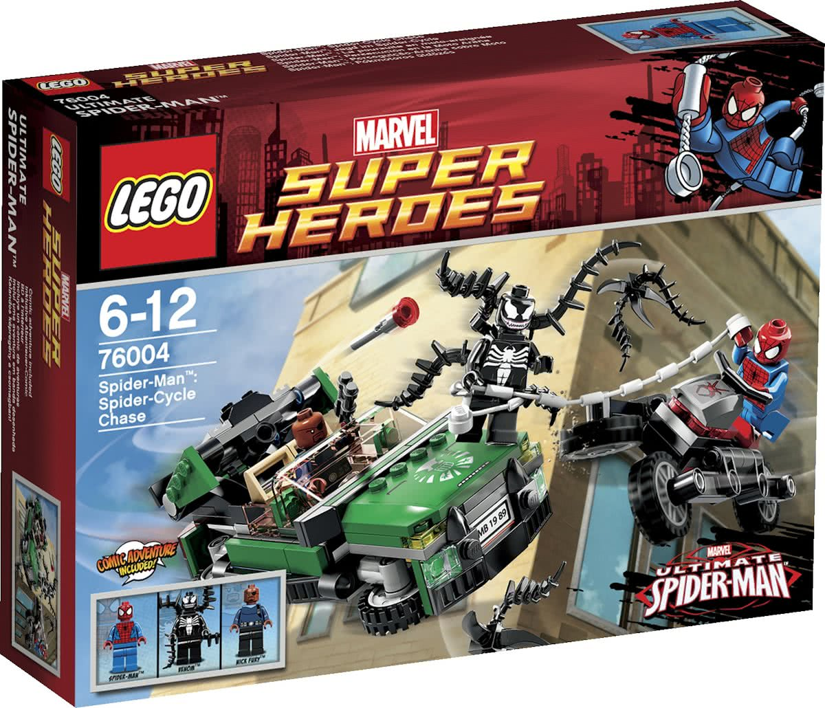 LEGO Super Heroes Spider-Cycle Achtervolging - 76004